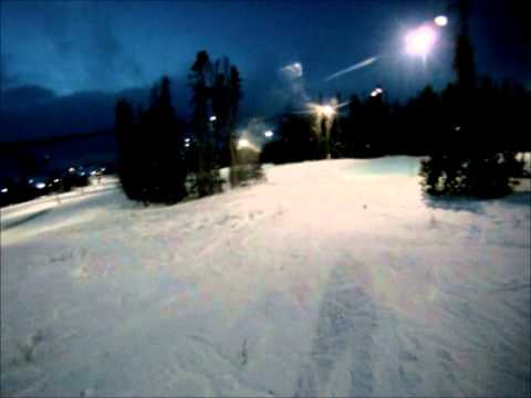 Snowboarding Granby Colorado Night