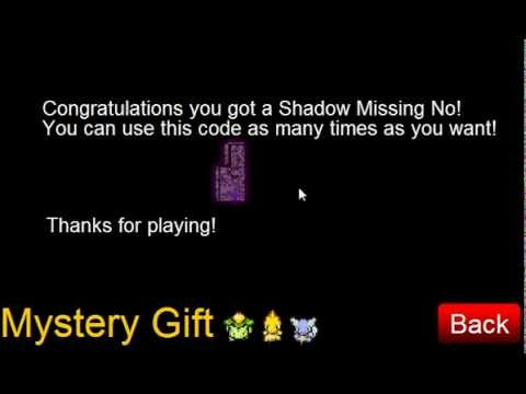 New PTD Shadow MssingNo. Mystery Gift Code v6.5