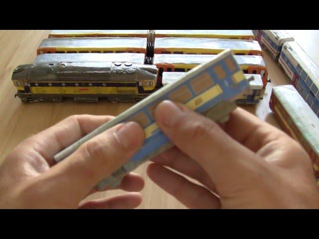 Papírové modely vlaků