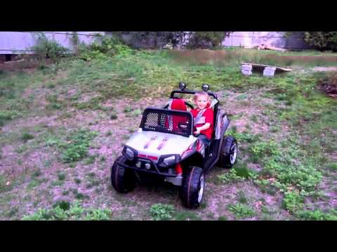 Tyler jumps his Peg Perego RZR