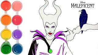 How to Draw & Color Disney Maleficent | prismacolor Drawing Learning Tutorial | Kids Learn Colors HD