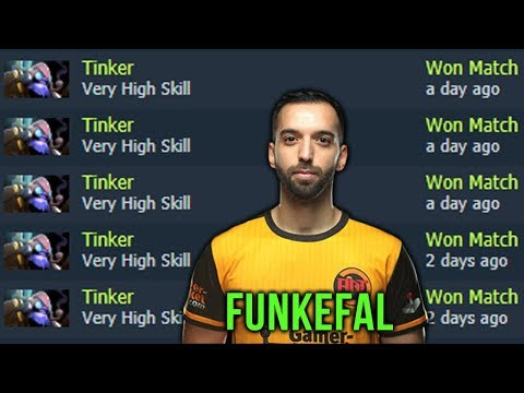 Funkefal Top-1 Tinker Spammer Know Only How to Win - Dota 2 Compilation