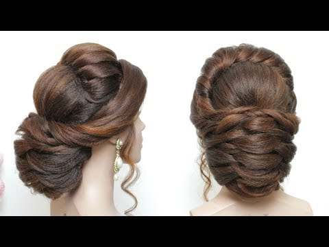 Latest Hairstyle For Long Hair. New Bridal Updo Tutorial - YouTube