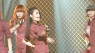 [FANCAM] 280510 4Minute HUH MuBank Rehearsal - Gayoon bias