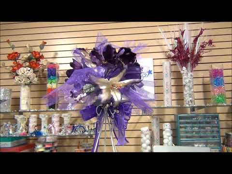 DIY: Quinceanera Centerpiece #082 Part 2 (Centro de mesa para Quinceanera)