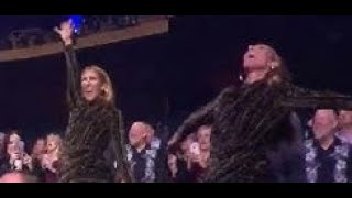 Celine Dion's CRAZY DANCING at Lady Gaga
