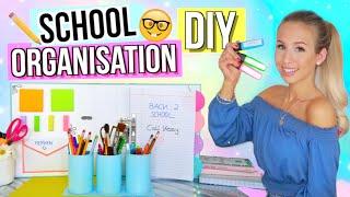 BACK TO SCHOOL ORGANISATION DIYs + HACKS ✏️💗 DIY Back to school Deutsch 2018