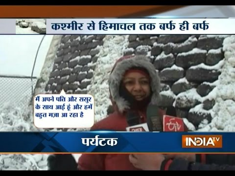J&K and Himachal Pradesh Witness Fresh Snowfall