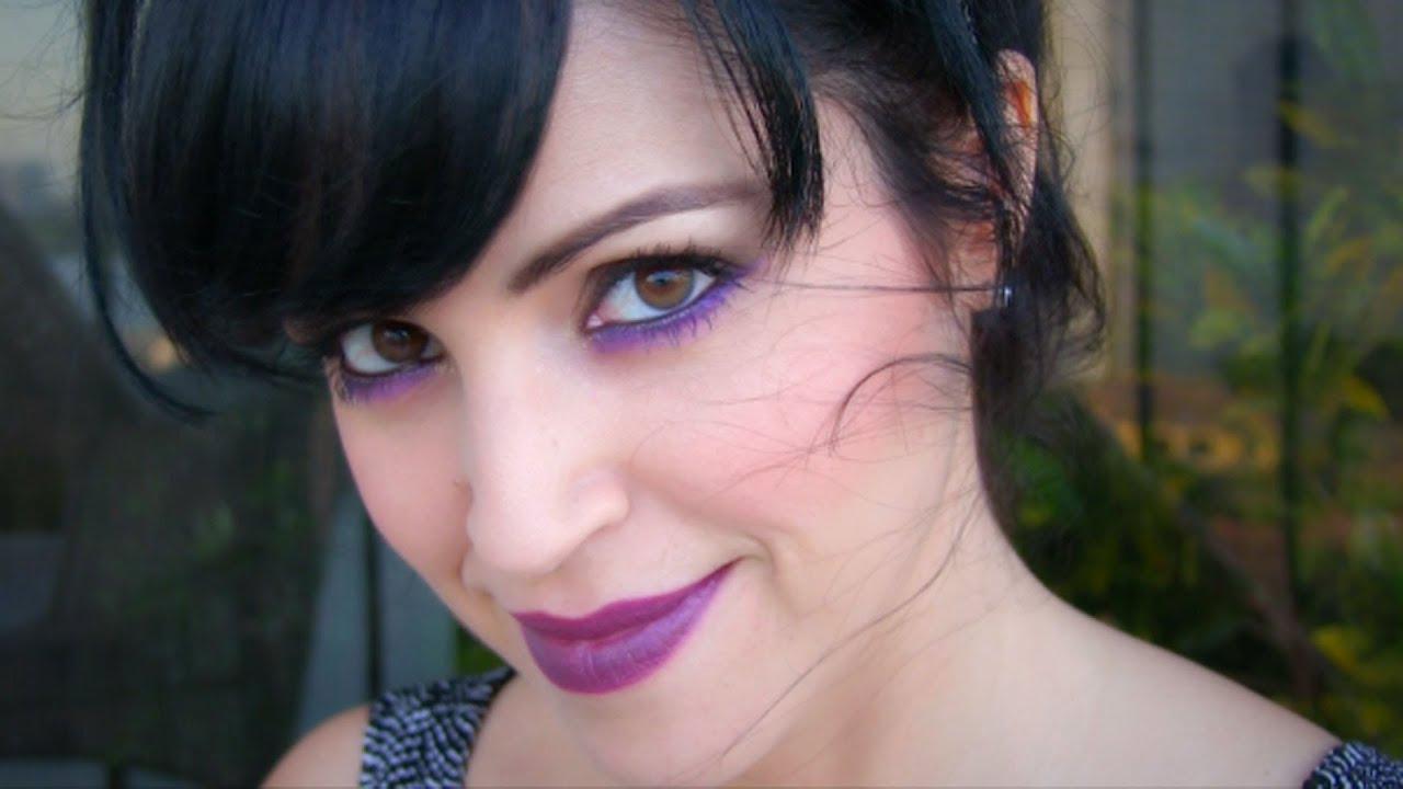 Tutorial Maquillaje Gotico Ojos Ahumado Marr 243 N Morado Y