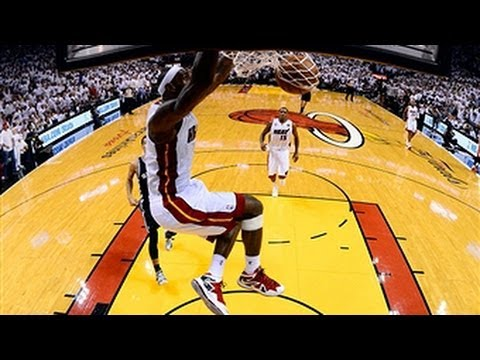 LeBron James' BIG block, assist & dunk in Game 2!