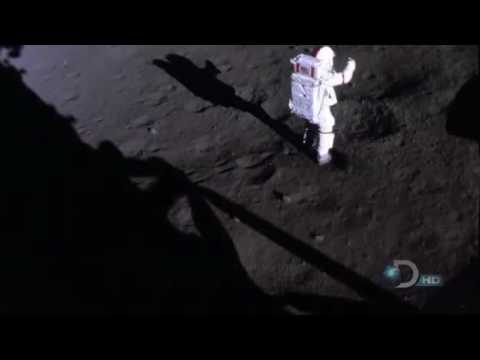 Apollo 17 Astronaut Kicking Up Dust in 16mm Footage