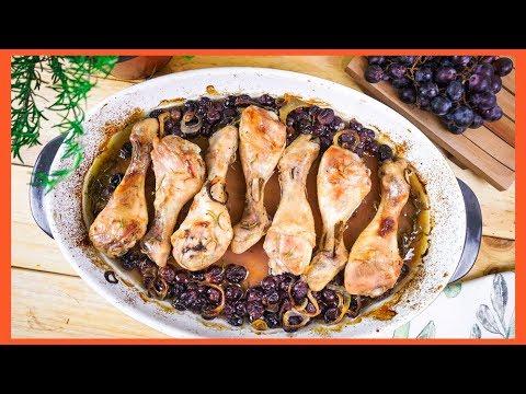 Pollo Asado al Horno con Uvas ¡JUGOSO y FÁCIL! thumbnail