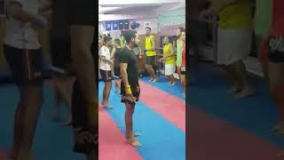 Kick boxing with coach moukafih