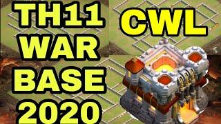 Top 3 TH 11 War Base || Anti 2 Star || CWL Base 2020 With Base Links