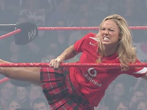 image Trish stratus vs stacy keibler braamppanties paddle on a pole match