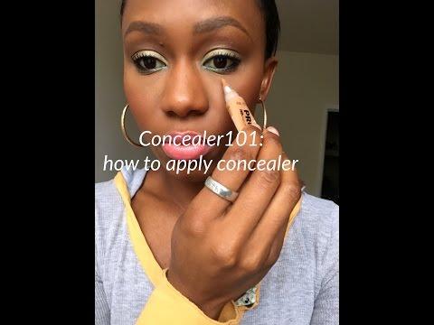 Concealer 101  How to apply Concealer
