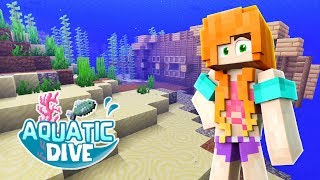 DIVING INTO A NEW WORLD | Minecraft: Aquatic Dive - Ep.01 | Marielitai Gaming