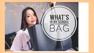 🎒 TRÂN MANG GÌ ĐI HỌC?? 😉 | What's In My SCHOOL BAG 2018 || Diane Le