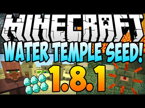 ★ Minecraft 1.8.1 Seeds - WATER TEMPLE SEED! Ocean Monument, 3 Temples, 2 Villages, 7 Diamonds