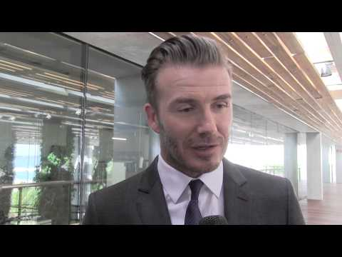 David Beckham talks stadium funding