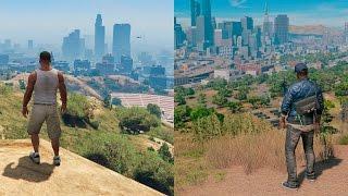 Watch Dogs 2 VS GTA V   COMPARISON   Comparativa