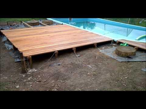 Deck sierra video 1 youtube for Construir pileta de material