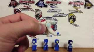 Wave 2 Monsuno Toy Opening - 4-Pack Core-Tech Red Elemental Lock, Whipper, Longfang, Airswitch