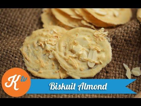 Almond Cookies Resep Resep Biskuit Almond Almond