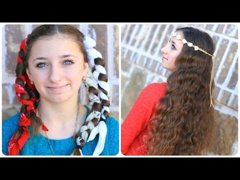 No Heat Bandana Curls Overnight Hairstyles Youtube
