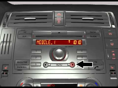 Ford 6000CD Activation of Connected Mobile Phone