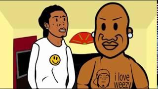 BIRDMAN WHOOPS LIL WAYNES ASS ON FACEBOOK: Birdman and Lil Wayne 9