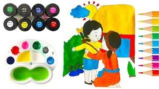 Tô Màu Nước và Kể Truyện Cổ Tích Hoa Mai Vàng | Học Màu Sắc | Trẻ Thơ TV | Giáo Dục Mầm Non
