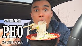 QT| Eating Pho In The Car | MUKBANG | QnA 1