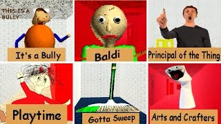 Baldi's Basics in Education and Learning ALL CHARACTERS
