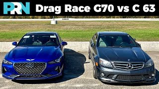 Genesis G70 vs Mercedes C 63 AMG | 1/2 Mile Drag Race