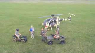 Raptor MD500 scale movie intro