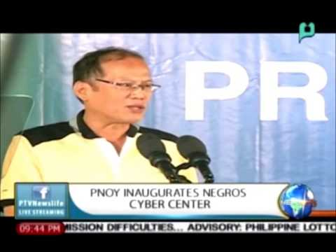 [NewsLife] PNoy Inaugurates Negros Cyber Center (Reported By: Christine Santos)