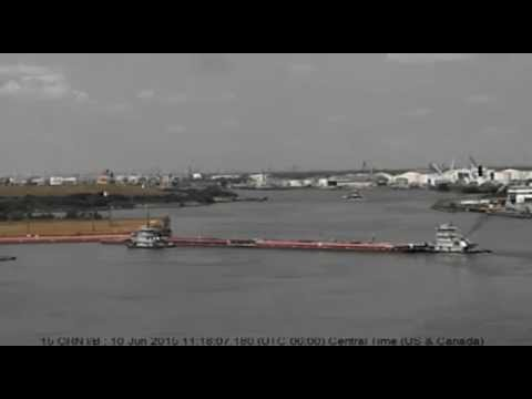 Barge Allision on Houston Ship Channel - June 10, 2015