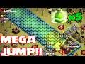 Clash Of Clans - MEGA JUMP!!! ( w/ 5 jump spells part 2) thumbnail