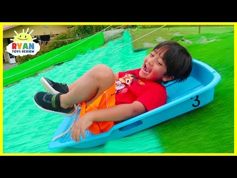 Worlds Biggest Giant Slides!!!  Kids Family Fun Trip to the Farm with Animals!!!