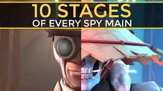The 10 Stages of Every Spy Main