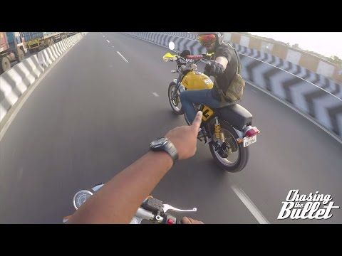 GoPro - Modified Royal Enfield Continental GT in Traffic in India