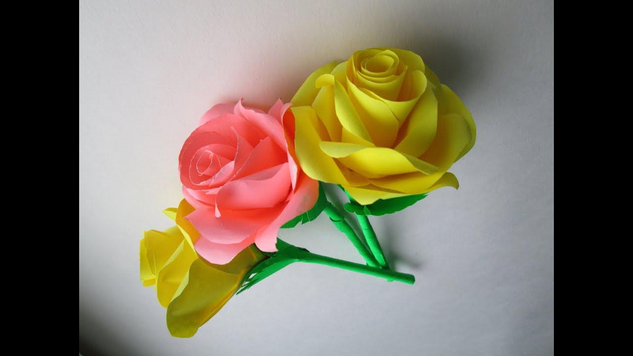 Как из бумаги сделать розу легко для ребенка