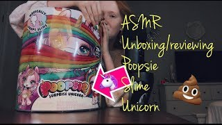 🦄 ASMR~ Unboxing/Review: POOPSIE SLIME UNICORN SURPRISE! 🌈