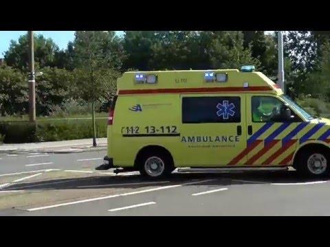 Ambulance.s met spoed vanaf post OLVG west in amsterdam