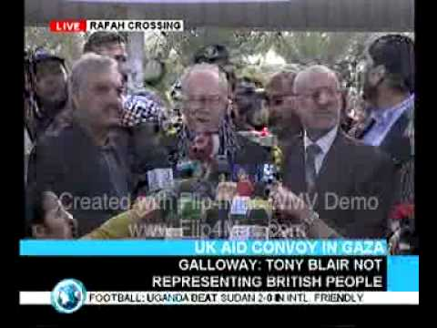 George Galloway's first speech from inside Gaza