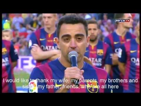 xavi hernandez ultimas palabras en el camp nou | english sub