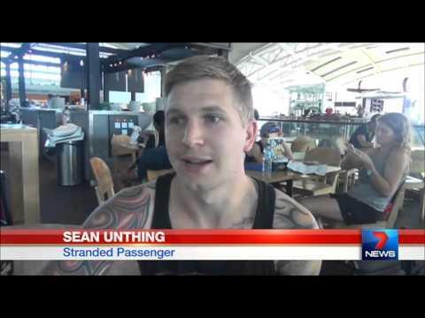 Flight Chaos   Seven News Perth   13/07/2015