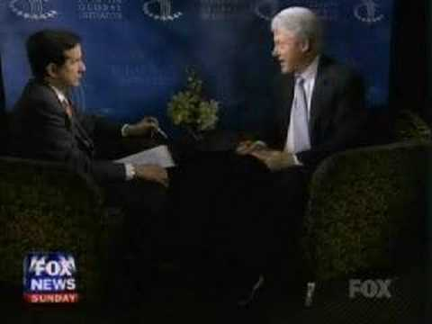 Bill Clinton on Fox News Sunday (Part 1 of 3)