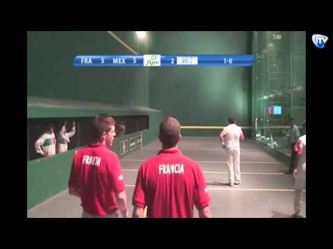 Mondial Pelote Basque Mexique 2014 - Main Nue Trinquet - France contre Mexique
